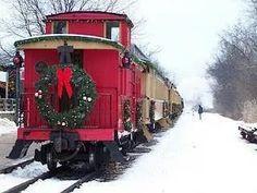 Trains Holiday Train, Christmas Train, Christmas Scenes, Country Christmas, Red Christmas, Christmas Time, Christmas Express, Christmas Images, Christmas Greetings