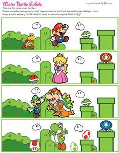 Mario Printable Coloring Pages, Invitations & Super Mario Birthday, Mario Birthday Party, Super Mario Party, Mario Crafts, Nerd Crafts, Super Mario Free, Mario Y Luigi, Mario Hat, Yoshi