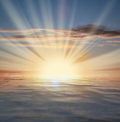 Sun Rays | Sun Rays Over The Sea
