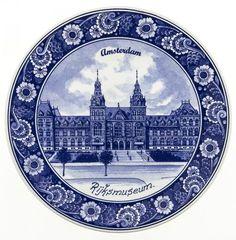 Typisch Hollands Spiegelbord Delfts blauw - het Rijksmuseum