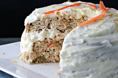 Carrot Cake made with Lil Buff Protein Cake Mix. Versatile: makes cakes, banana bread, muffins, waffles, pancakes etc. Gluten Free, and 27g of Protein.  1 Lil Buff Protein cake mix (Fit-Fetti) 3 Tbsp egg whites or 1 large egg white (46g) 1/4th cup of milk (Unsweetened cashew preffered) (30mL) 1/3rd cup of pumpkin puree (about 75g) 2 shredded carrots or 4 baby carrots Dash of cinnamon Cinnamon Cream Cheese frosting (Recipe on Frosting page)