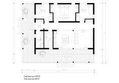 Modern Style House Plan - 3 Beds 1 Baths 1059 Sq/Ft Plan #549-1 Floor Plan - Main Floor Plan - Houseplans.com