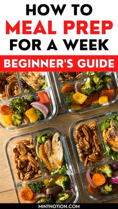 How to meal prep for a week. Great meal prepping ideas for weight loss. Learn how to make 5 dinners in under an hour with these beginner's meal prep tips. Healthy meal prep ideas. Healthy Meal Prep, Keto Meal Plan, Easy Healthy Dinners, Quick Easy Meals, Healthy Dinner Recipes, Healthy Habits, Healthy Foods, Meal Prep For Beginners, Recipes For Beginners