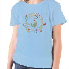 Camiseta niño ballena y pájaros