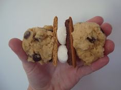 Dip it in Chocolate: S'mores Stuffed Chocolate Chip Cookies