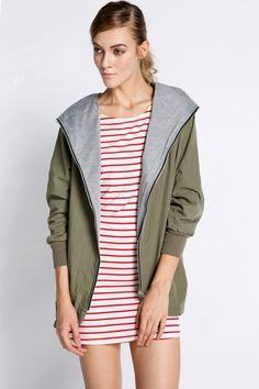 Coat Women Hooded Pockets Jacket Zippper Blazer Loose Sweater Korean B5UT
