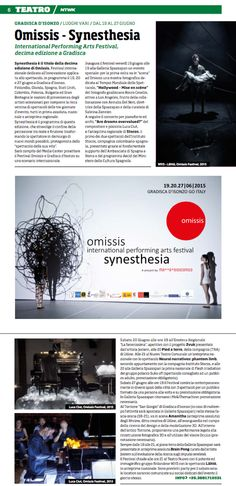 #omissis2015   Omissis Festival - Synesthesia International Performing Arts Festival  www.omissisfestival.it
