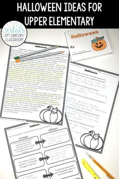 Who says holidays shouldn't be celebrated in upper elementary? Here are some of my favorite Halloween classroom ideas for upper elementary classrooms!  #vestals21stcenturyclassroom #halloween #halloweenactivities #halloweenactivitiesforkids #upperelementary #halloweenupperelementary #halloweenupperelementaryactivities