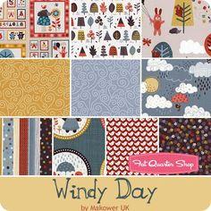 Windy Day Fat Quarter Bundle Makower UK for Andover Fabrics - Fat Quarter Bundles    Fat Quarter Shop