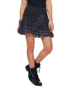Free People Printed Crinkle Skirt