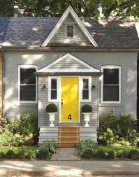 yellow, white, grey exterior