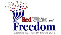 Red, White and Freedom July 4th Downtown Gastonia, NC The largest July 4th Festival in the Southern Piedmont!  Music brought to you by Moses Jones. 2013 Line Up Riyen Roots & The Family Tree Band Big Break Dirty Grass Soul Pam Taylor Band Bobby Ray Bittle Fan Page Moses Jones