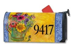 "Flower Mailwrap with Addressables Style: Fresh Flowers by Magnet Works, Ltd.. $14.99. Made of durable fade resistant vinyl and will not crack or tear.. Includes a sheet of vinyl numbers.. Fits standard sized mailboxes, 6.5""W x 19""L. Reuseable & all weather. MAIL4171 Style: Fresh Flowers Features: -Flower mailwraps with addressables.-Personalize with your own address.-Patented magnetic attachment.-Newest addition to the mailwraps family of magnetic mailbox covers.-Can per..."