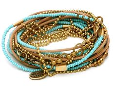 turquoise bead and leather