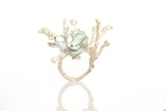 Sterling silver with enamel floral ring by Kiki Tang 2015