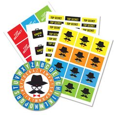 Spy Party/Top Secret Sticker and Cipher Wheel Set | International Spy Museum Store