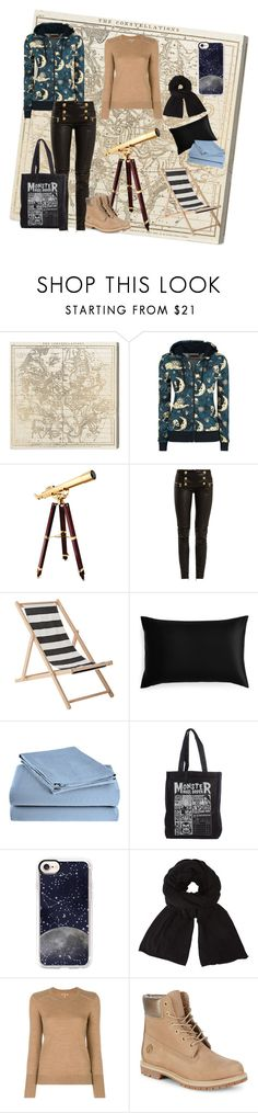 """Star Gazing"" by freefreak ❤ liked on Polyvore featuring Oliver Gal Artist Co., Frontgate, Balmain, Bloomingville, Slip, Home City, Casetify, John Lewis, Burberry and Timberland"