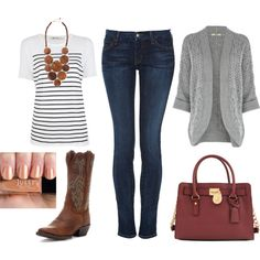 """Casual Fall outfit """"Put Your Feet Up"""" by torinmia on Polyvore"""