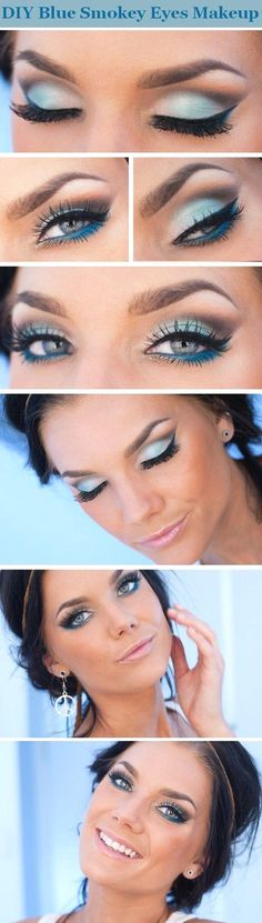 Make up for Blue Eyes.. http://hubz.info/105/nice-nails-hena-tattoo-and-silver-jewelry