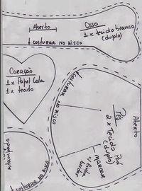 FELTRO MOLDES ARTESANATO EM GERAL: CACHORRO