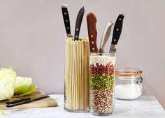 DIY knife block idea