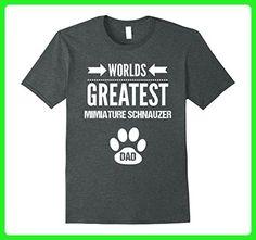 Mens Miniature Schnauzer Dog Dad TShirt Worlds Greatest Dad Shirt 2XL Dark Heather - Relatives and family shirts (*Amazon Partner-Link)