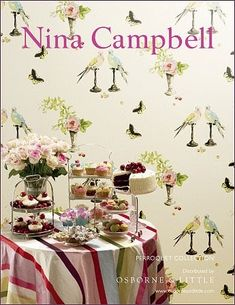 I was just reading through the March/April issue of Vogue Living Australia and fell in love with Nina Campbell's ad! I guess that anything ...