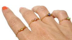 Evil Eye Ring 14kt Gold Filled Chain Evil Eye Charm por aylinmadden