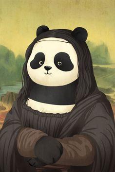 Isto é o que acontece quando pandas invadem 12 obras de arte - Mega Curioso