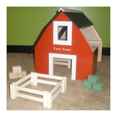 Customized Wooden Toy Barns & Stables with by MANDTDecorandmore