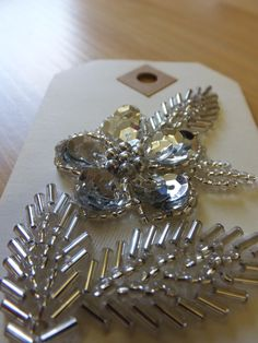 silver sequin flower applique £2.00