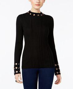 INC International Concepts Grommet-Trim Mock-Neck Sweater, Only at Macy's   macys.com