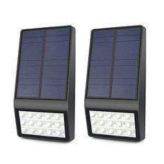 NEW! Lineway Black Home   LED Radar Motion Sensor Solar Wall Light 3W ...NO TAX #Lineway