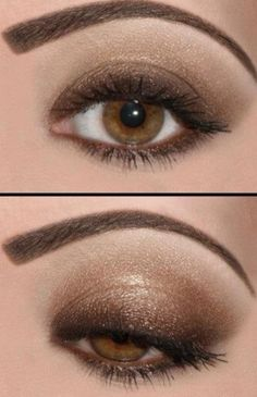 Eye shadow for brown eyes - so pretty  Wish I knew the colors and brand