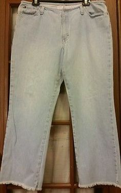 Tommy Hilfiger Women's size 14 straight boho hippie hipster flare blue jeans