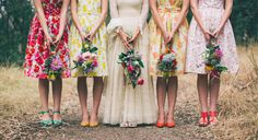 Or these carefully-curated mismatched ones. | 27 Simply Lovely Wes Anderson-Inspired Wedding Ideas