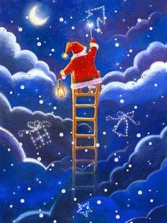 day of Christmas light up the sky! Xmas Gif, Merry Christmas Gif, Holiday Gif, Christmas Scenes, Christmas Holidays, Christmas Cards, Christmas Decorations, Vintage Christmas Images, Retro Christmas