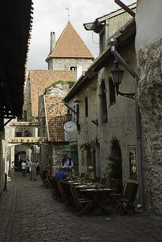 Streets of the old Tallinn - Estonia
