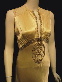 Art Deco Period Wedding Dress Bellasoiree Original Design Vintage Antique Silk Beaded and Fabulous. $725.00, via Etsy.