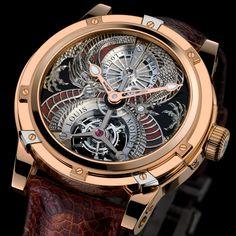 Louis Moinet Dragon Tourbillon Louis Moinet presents Dragon Tourbillon, his new artistic timepiece in a limited edition of 12 pieces (See more at En/Fr: http://watchmobile7.com/articles/louis-moinet-dragon-tourbillon) #watches #montres #louismoinet
