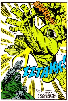 Doom vs. Hulk - THE AVENGERS #1.5 (Dec. 1999), Art by Bruce Timm, Words by Roger Stern