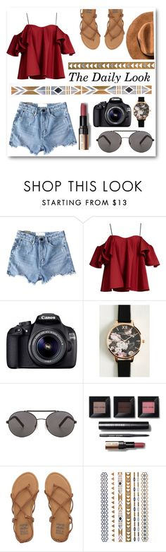 """""""The Daily Look"""" by shealwaysfashion ❤ liked on Polyvore featuring Chicnova Fashion, Anna October, Eos, Olivia Burton, Seafolly, Bobbi Brown Cosmetics and Billabong"""