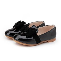 Girl's Flats Spring / Summer / Fall Others / Comfort PU Casual Flat Heel Bowknot Black / Red 5379810 2016 – $15.99