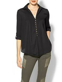 Everly Clothing Easy Button Blouse | Piperlime