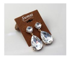 SUMNI Sparkle Crystal glass droplets Earrings 3341-8 - EC Chic Fashion Online Store    worldwide Free Shipping