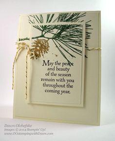 #dostamping #stampinup #diy #dawnolchefske #controlfreaks #ornamentalpines #2014suholidaycatalog #cardmaking #christmas