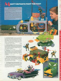 What were the most popular toys in the Research and relive toys with our timeline & over 100 pictures. Ninja Turtle Toys, Teenage Mutant Ninja Turtles, Retro Toys, Vintage Toys, Tmnt, Gi Joe, 1990s Toys, Old School Toys, Childhood Toys