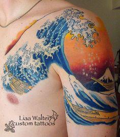 The Great Wave tattoo by Liaa Walter, Washington, DC