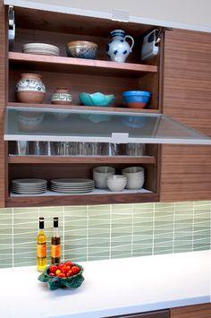 Mid Century Modern Kitchen Design - like that tile backsplash!