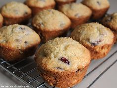 Cranberry Orange Muffins (made with dried cranberries, for year round enjoyment!).